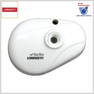 Pressurizador Maxi Turbo c/Cano p/Ponto de Chuveiro (Branco)