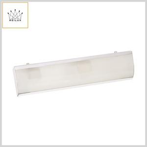 Luminária Camarim 157 Chapa Alumínio 2xE27 Vidro Jateado (400mm)