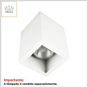 Plafon de Alumínio 108Q Quadrado 1xE27 s/Vidro