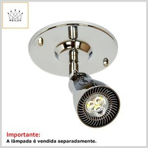 Spot de Alumínio 2601 1xGU10 Dicróica c/Difusor Direcionável