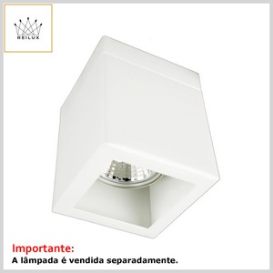 Plafon de Alumínio 2167 Quadrado 1xGZ10 Dicróica s/Vidro