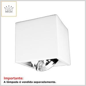 Arandela de Alumínio 2165 Retangular 1xHalógena c/Vidro Jateado