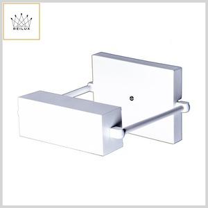 Arandela de Alumínio 235 Quadrada 1xHalóg.Palito Canoa c/Difusor Articulável