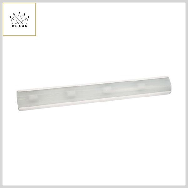 Luminária Camarim 159 Chapa Alumínio 4xE27 Vidro Jateado (900mm)
