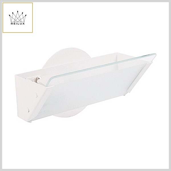 Arandela de Alumínio 074 1xE27 c/Vidro Jateado+Borda Transparente